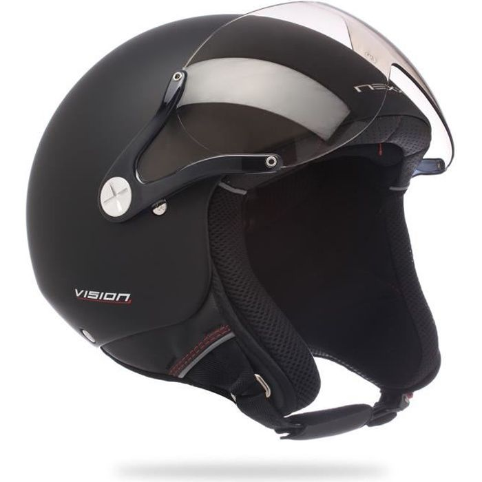 casque jet scooter moto nexx x60 vision plus noir achat. Black Bedroom Furniture Sets. Home Design Ideas