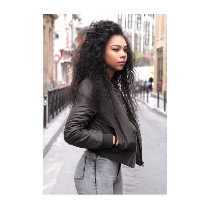 naby blouson bombers femme kaki achat vente blouson cdiscount. Black Bedroom Furniture Sets. Home Design Ideas