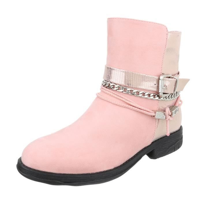 9057376bf391b0 Chaussures femme bottine Bottes rose 41 Rose Rose - Achat / Vente ...