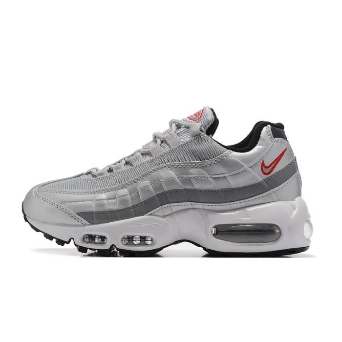 online store dcc72 f0ad8 Baskets Nike Air Max 95 Femme Chaussures De Running Argent