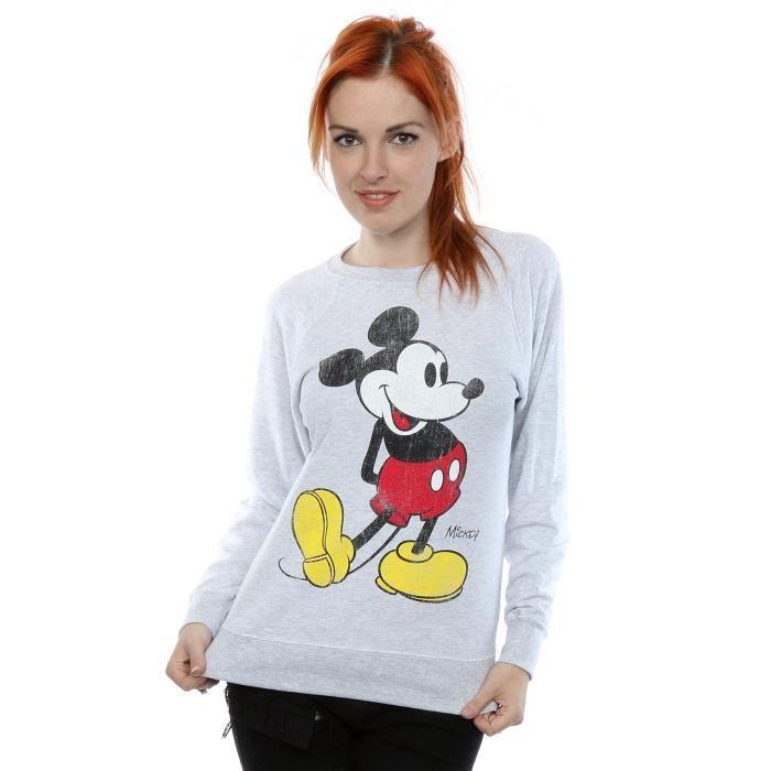Disney Mickey Mouse classique Coup de pied sweat shirt de la femme Taille 42