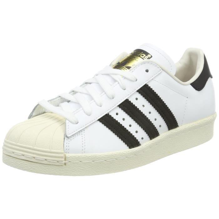 competitive price another chance classic style ADIDAS chaussures de gymnastique pour hommes superstar des années 80 DKQ47  Taille-38 1-2