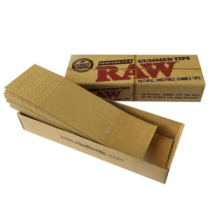 3 Boites Filtres Carton RAW Gommés Fumeur Objet Fumer Accessoire Original