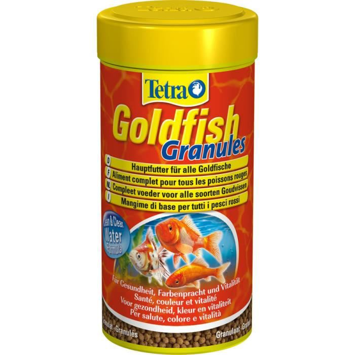 Tetra tetra goldfish granules 500 ml achat vente for Nourriture poisson rouge composition