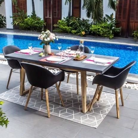Table jardin beton