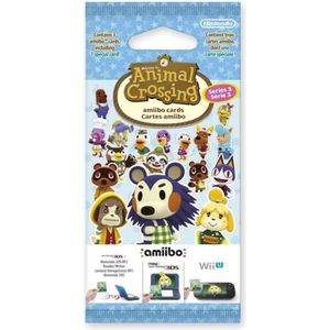 CARTE DE JEU Paquet de 3 cartes Animal Crossing Série 3