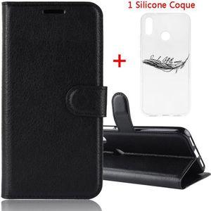 HOUSSE - ÉTUI Coque Xiaomi Redmi Note 7 - Nouveau PU Cuir Portef