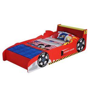 LIT COMPLET MCC Lit rouge voiture de course / Formule 1 pour j