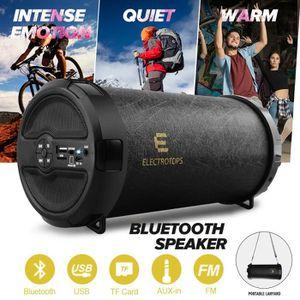 ENCEINTE NOMADE Enceintes Bluetooth Haut-Parleur Cylindre Stéréo P