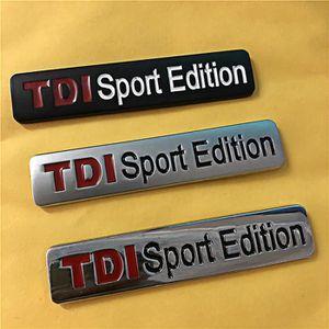 DÉCORATION VÉHICULE 4x Logo JantTDI Sport Edition Métal Chrome Argent