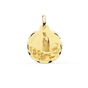 PENDENTIF VENDU SEUL Médaille pendentif Or 18 carats Vierge de Fatima 1
