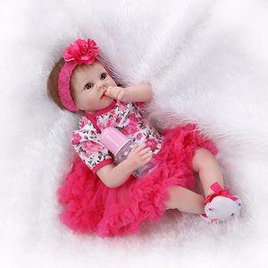 POUPÉE 22 pouce 55 cm silicone bébé reborn poupées réalis