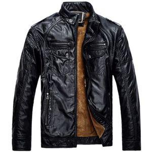 BLOUSON Fashion Blouson en Cuir PU/Jeans En Hiver Pour Hom