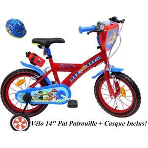 VÉLO ENFANT Vélo 14'' PAT PATROUILLE équipé de 2 freins, bidon