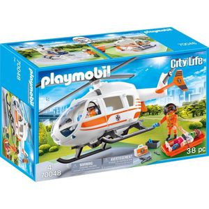 UNIVERS MINIATURE PLAYMOBIL 70048 - City Life Les Secouristes - Héli