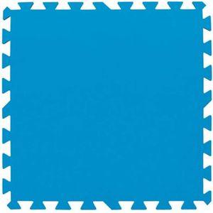 ENTRETIEN DE PISCINE BESTWAY Lot de 9 dalles de sol - 50 x 50 cm - Bleu