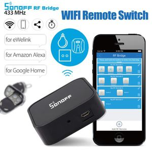 TÉLÉCOMMANDE DOMOTIQUE  Sonoff RF Bridge 433MHz Wifi DIY Smart Timer Switc