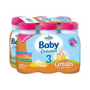 LAIT BÉBÉ CANDIA Baby Croissance Lait 3ème âge Céréales riz