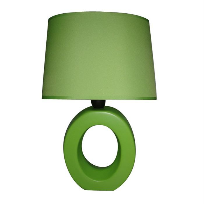 lampe a poser ceramique arco oval vert achat vente lampe a poser ceramique vert c ramique. Black Bedroom Furniture Sets. Home Design Ideas