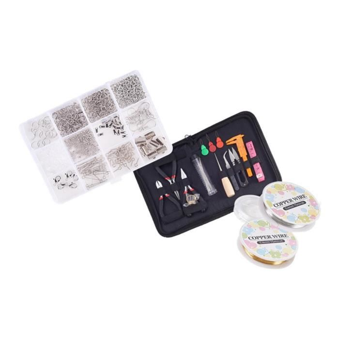 Kit de Accessoire de Fabrication de Bijoux de 800 Pièces ,Réparation Création Bricolage