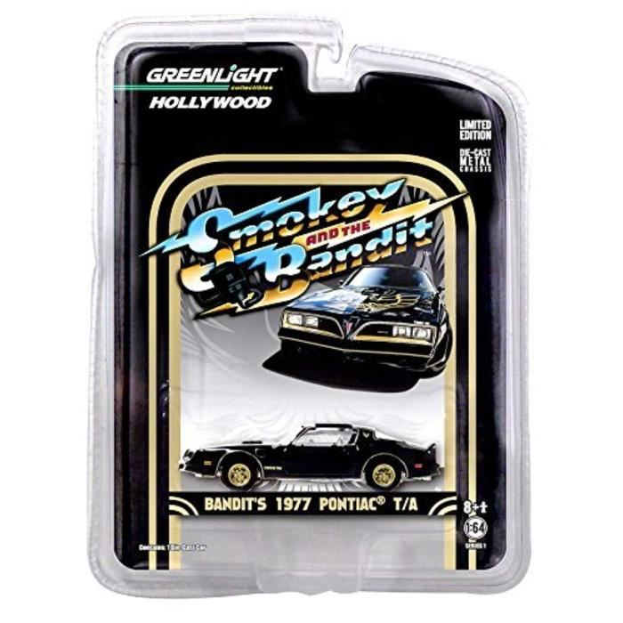 Voiture Electrique TGD0P 1:64 Hollywood Series Smokey and the Bandit 1977 Pontiac Trans Am Diecast Car