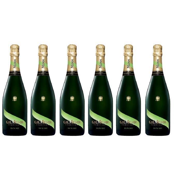Lot de 6 Champagne Mumm demi-sec