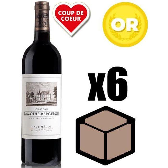 X6 Château Lamothe-Bergeron 2015 75 cl AOC Haut Medoc Rouge Vin Rouge