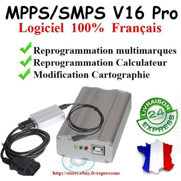 OUTIL REPROGRAMMATION MPPS V3.0 PRO - GAIN PUISSANCE IMMO OFF FAP EGR by Mister Diagnostic®