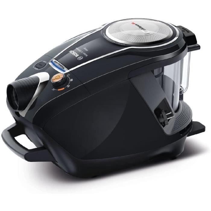 Bosch – Serie - 8 ProSilence BGS7MS64 – Aspirateur sans sac – Très silencieux 64 dB – 800 W – Noir
