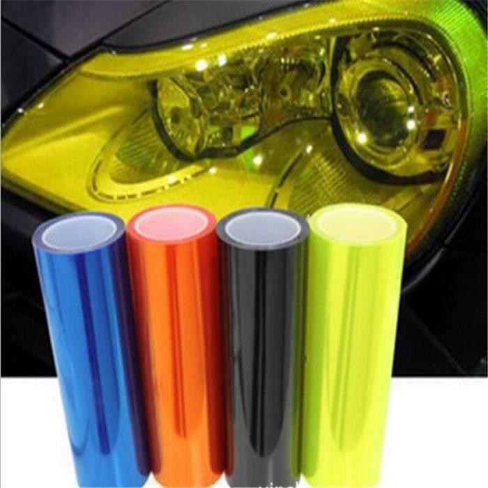 Phare de voiture - Film vinyle imperméable, nouveau, 40 cm x 120 cm, noir foncé, phare de voiture, teinte d - Modèle: -