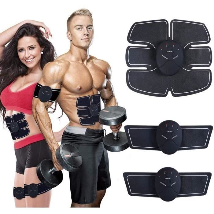 Ceinture Abdominale Electrostimulation Femme Homme pour Abdomen-Bras-Jambes Formation Corps Home Office Gym