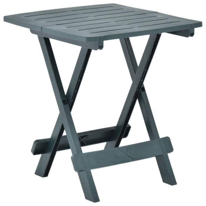 Table de Jardin Pliable - Table de reception pliante fête Buffet Jardin Camping Party- Vert 45x43x50 cm Plastique