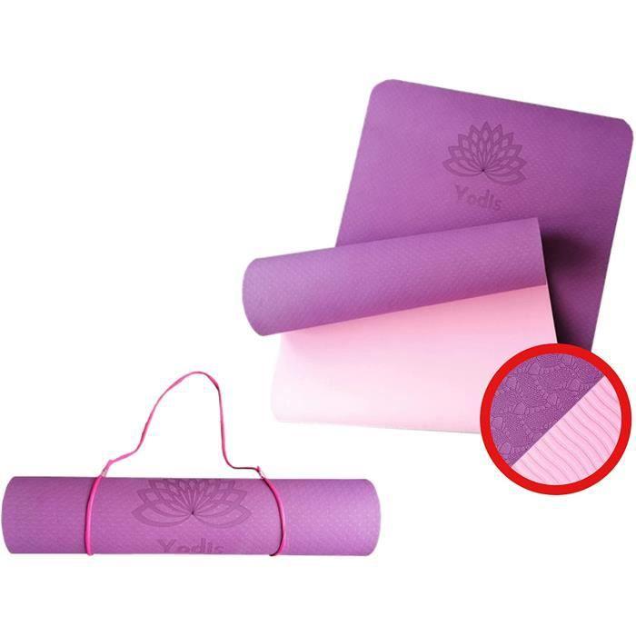 tapis yoga mat de sport fitness gym dexercice pilates training tatami sol interieur home exterieur antidérapant anti bruit isol 552