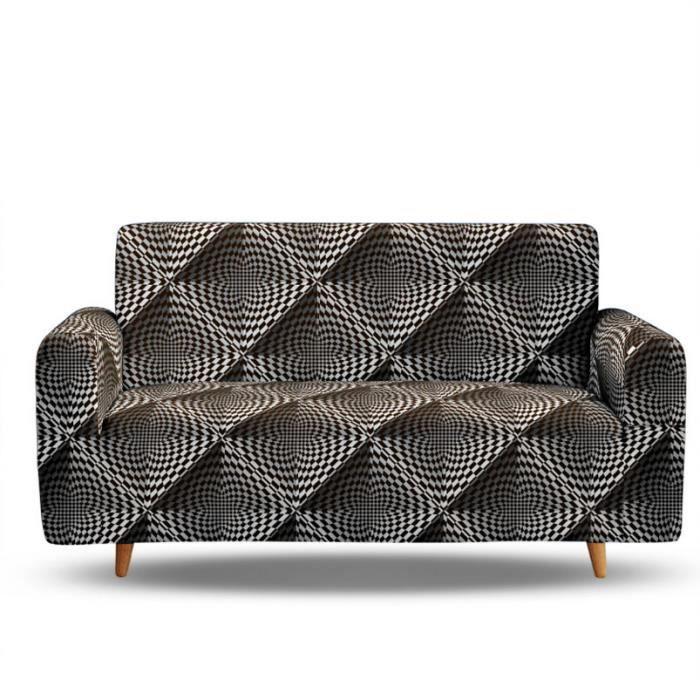 Housse de Canape de 3 Places Couverture 3D Digital Magic Imprime Pour Longueur de 190-230 cm