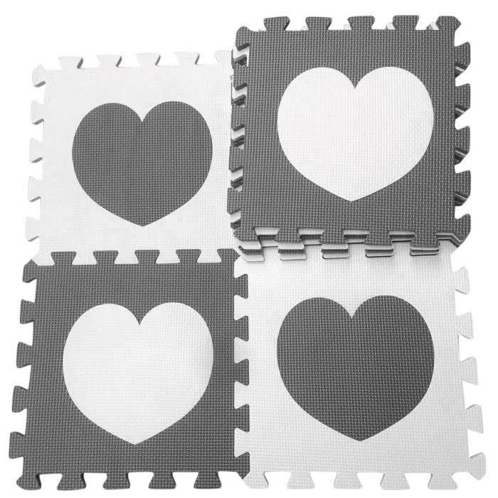 Tapis d'éveil,Tapis de jeu Marjinaa 10-20 pièces gris blanc bébé EVA mousse puzzle-tapis de sol d'exercice - Type huibaiAIX-10PCS