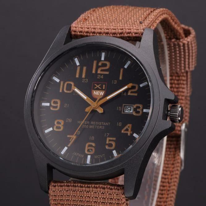 MONTRE BRACELET Outdoor Mens Date Stainless Steel Military Sports Analog Quartz Army Wrist Watch XYQ60215122BW_SAN5798 Ve84086