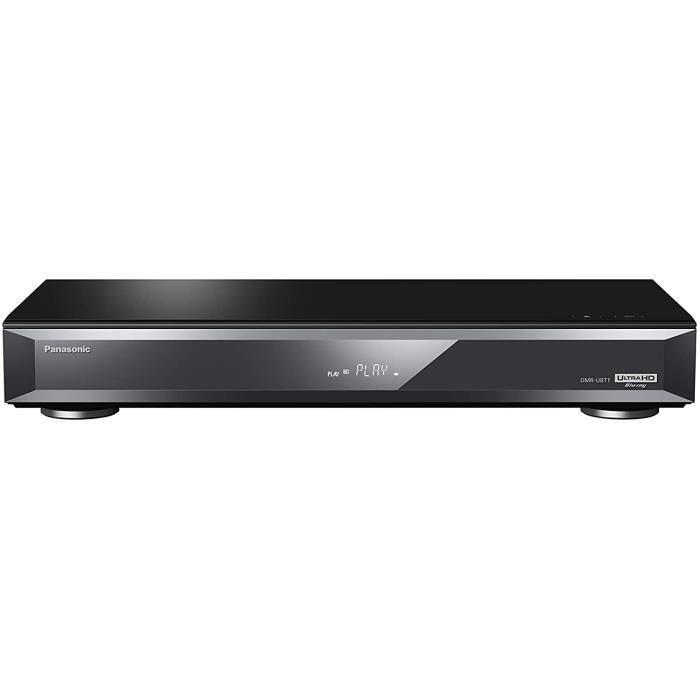 Panasonic Lecteur Blu Ray UHD enregistreur Full HD DMR-UBT1EC-K Réglage HDR Automatique, Convertisseur 4K, Lecture Audio Hi-Res, Dis