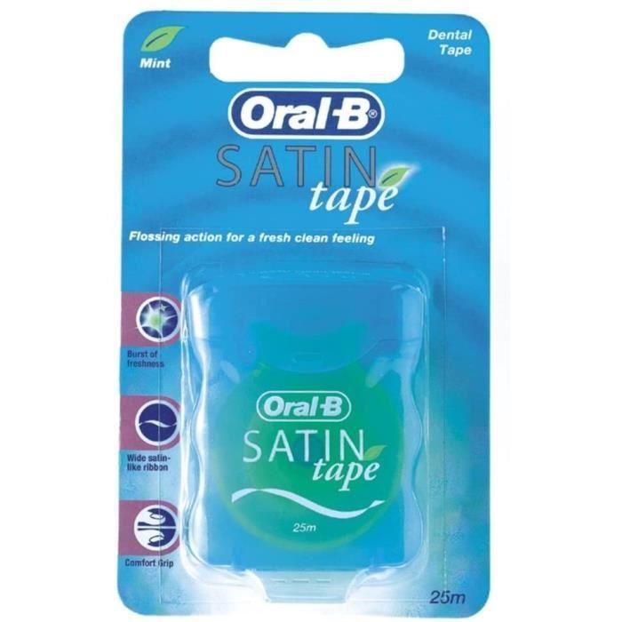 FIL DENTAIRE Lot de 6 paquets de fil dentaire Oral B agrave la menthe ruban de satin 25 m194