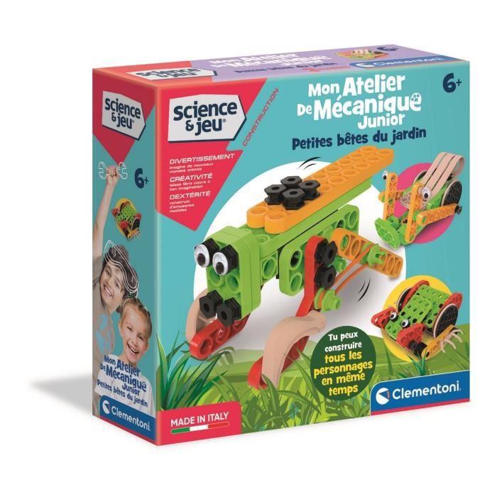 Clementoni - 52483 - Mon atelier de mécanique Junior - Petites bêtes du jardin