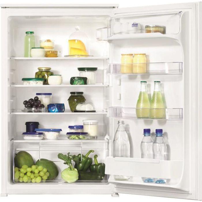 FAURE FBA15021SA - Réfrigérateur table top encastrable - 142L - Froid statique - A+ - L 54cm x H 87,3cm - Blanc