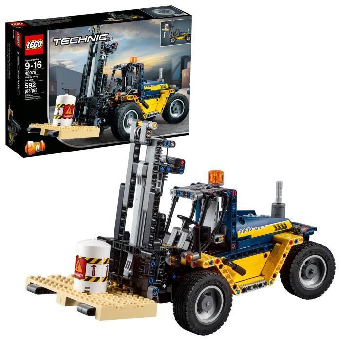 Jeu D'Assemblage LEGO Technic Heavy Duty Chariot élévateur 42079 Kit de construction (592 pièces) BTN2Q