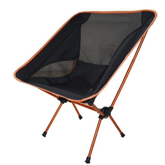 Chaise camping portable chaises pliantes de pêche en alliage d'aluminium