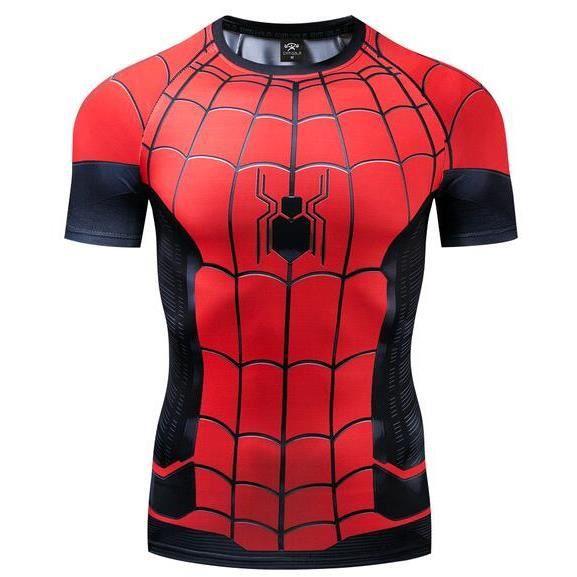 Nouveau Spiderman Collants Expédition héros Cosplay Les vêtements Avengers 4 Merveille Frère hollandais Même t-shirt