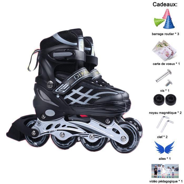Rollers En Ligne Réglable- Roller In Line Enfants- Patins à Roulettes- Cadeaux 7pcs