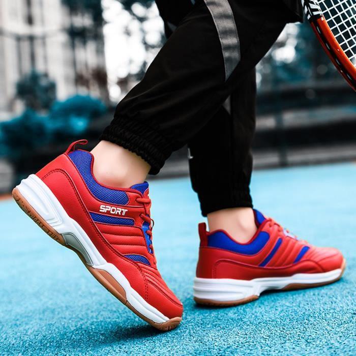 Chaussures de tennis en plein air respirantes antidérapantes et résistantes à l'usure pour hommes zhizheyea rouge