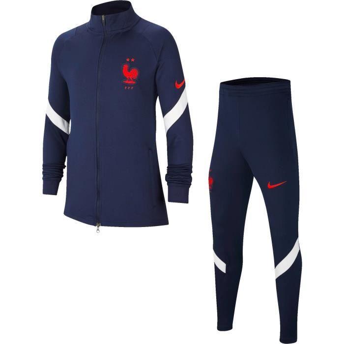 NIKE Survêtement de jogging Football FFF 20 - Garçon - Bleu