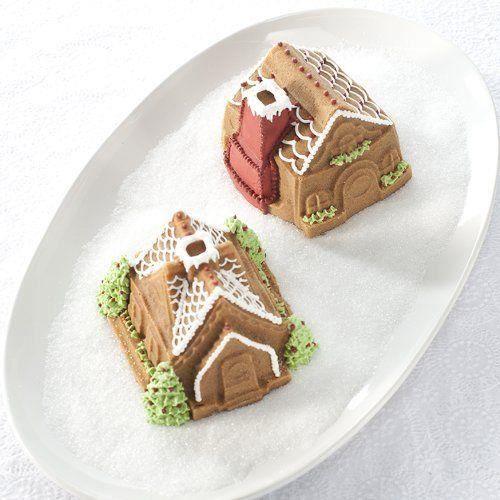 Nordicware 86748 Moule à Gâteau Design Gingerbread House Duet Fonte d`Aluminium