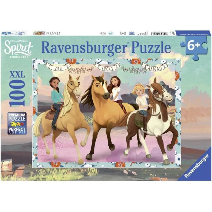 RAVENSBURGER Puzzle 100 p XXL - Lucky et ses amies / Spirit