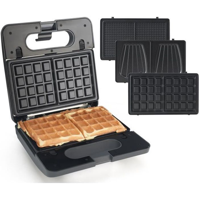 Senya Appareil Croque monsieur, gaufrettes Waffle Party