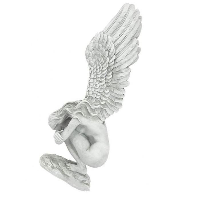 Statue d'ange Ailes d'ange Redemption Statue Résine pour Présentoir Salon de jardin cadeau S
